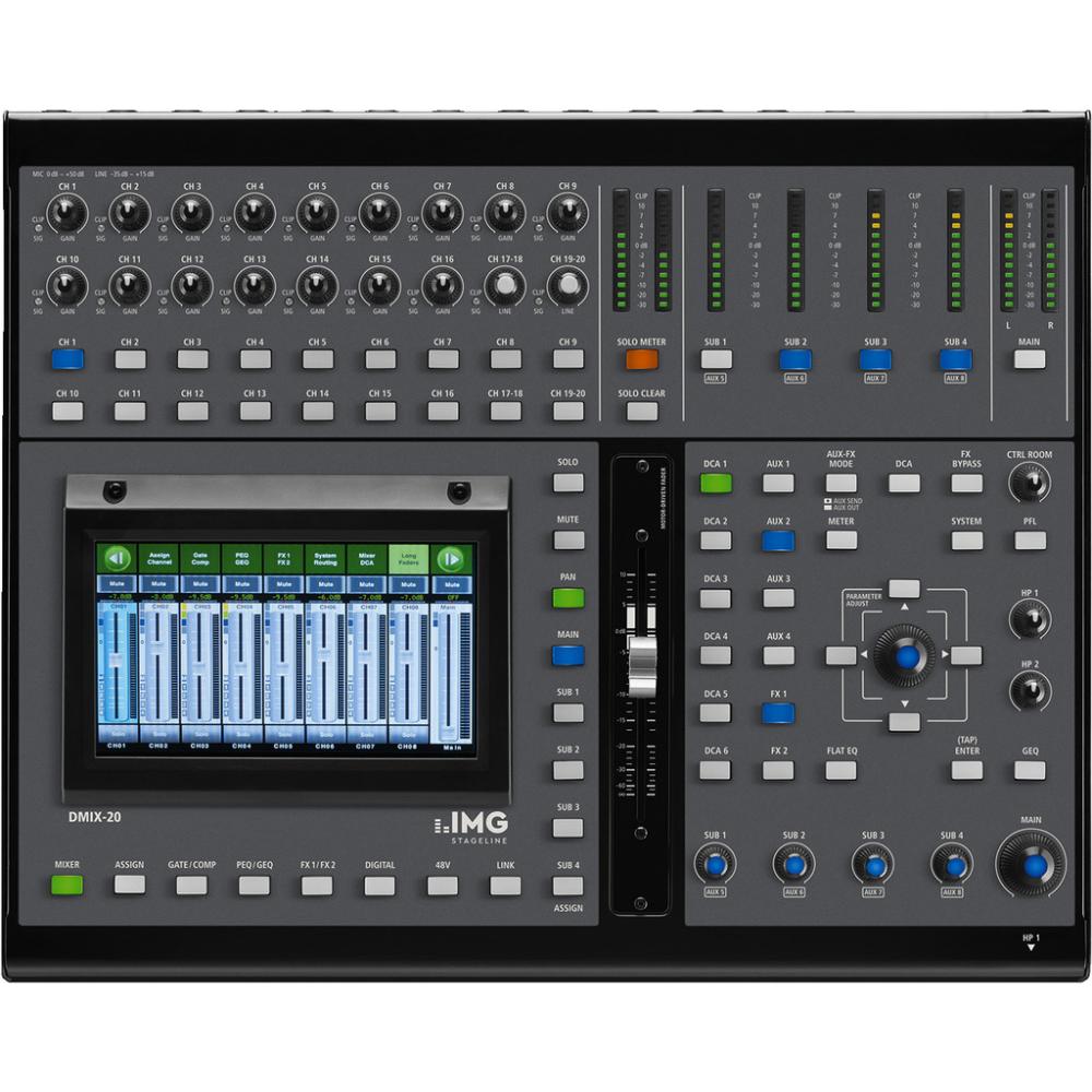 img digital mixing desk dmix 20 19 channel audio mixer live sound band studio. Black Bedroom Furniture Sets. Home Design Ideas