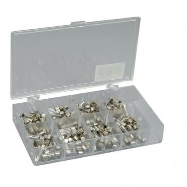 160pcs Assorted Case Of Glass 5mm x 20mm Fuses