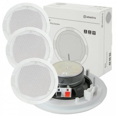 "4 x 35w 8ohm White Ceiling Speaker 130mm 5"""