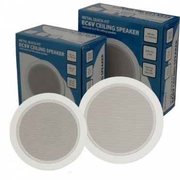 "Quick Fit Ceiling Speakers 5.25"" & 6.5"" Versions 100v Line & 8 Ohms"