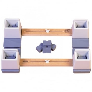 Adjustable Height and Width Linked Bed Raiser