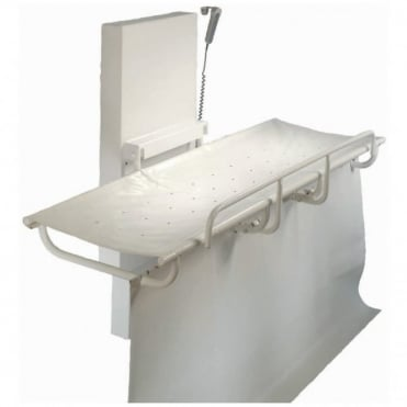 Adjustable long stretcher with guard rail