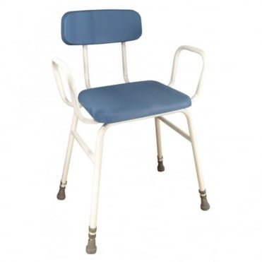 Astral Perching Stool Configuration With Arms and Padded Back