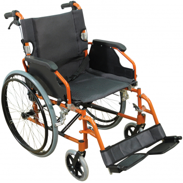 Foldable Lightweight Self Propelled Aluminium Wheelchair - Easy Transport & Storage
