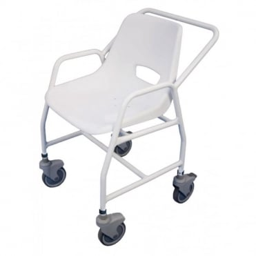 Hythe Adjustable Mobile Shower Chair with Castors