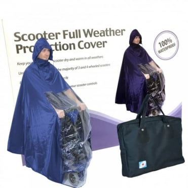 Lightweight Rain Coat Mobility Scooter Hooded Cape Mac Waterproof Poncho inc BAG