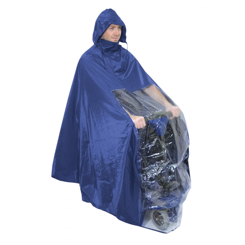 Waterproof Light Weight Rain Coat Mobility Scooter Hooded