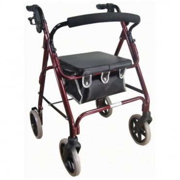Lightweight Rollator Red
