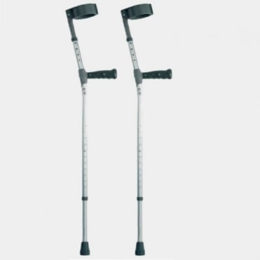 Pair of PVC Handled Elbow Crutches