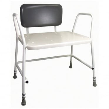 Portland Bariatric Height Adjustable Shower Stool With Back
