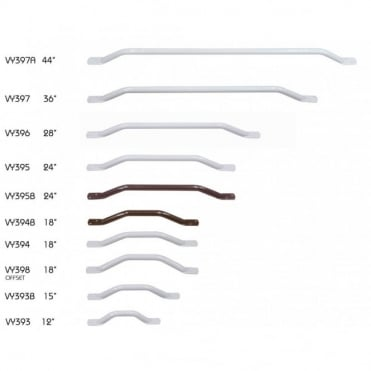Solo Easigrip Steel Grab Bars 300mm - 1100mm