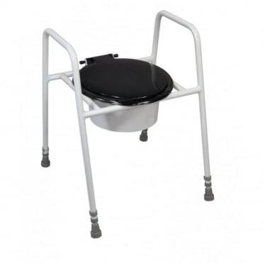 Solo Skandia Raised Toilet Frame with Seat and Lid