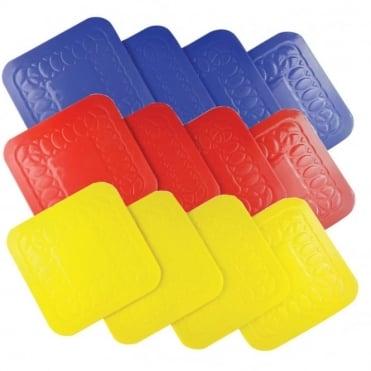 Tenura Anti Slip Silicone Rubber Square Coaster (Pack of 4)