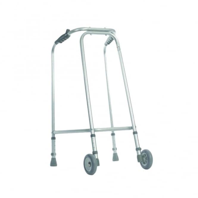 ultra narrow lightweight walking frame with castors