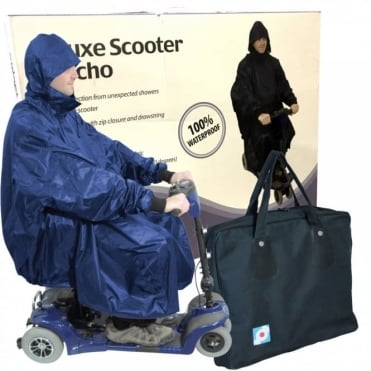 Waterproof Light Weight Rain Coat Mobility Scooter Hooded Cape Mac Poncho + BAG