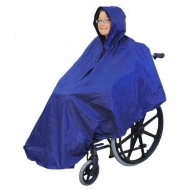 Wheelchair Rain Cover Warm Dry Poncho Waterproof Cape Hood Universal