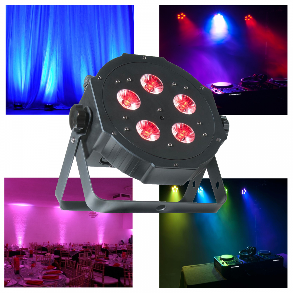 The Adj Mega Tripar Profile 5 X 4w 4 In 1 Rgb Uv Colour