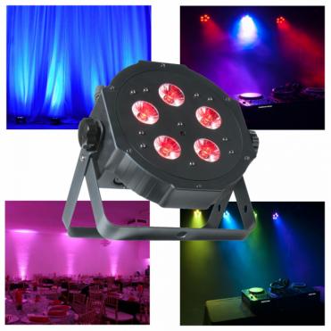 ADJ Mega TriPar Profile Plus 5 x 4w 4-in-1 RGB UV Colour LED Par Can Slimline