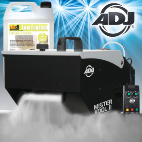 Mister Kool Dry Ice Effect Smoke Fogger Ground Fog Machine Inc 5L Smoke Fluid