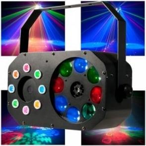 Stinger Gobo 3-in-1 Effect ADJ Goboflower Wash FX & Laser Light