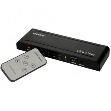 1080P 5 Way HDMI Splitter Switcher Hub Inc Remote - HDTV SKY Box PS3 Xbox