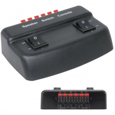2 Way Speaker Switch Selector Box for AV Reciever / Stereo / Speakers