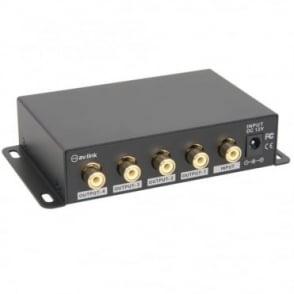 AD-COM14 4 Way Composite TV Video Distribution Amplifier RCA Phono Splitter
