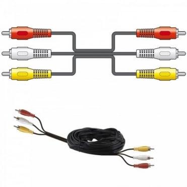 AV Lead 3 x RCA Phono Plugs - 3 x RCA Phono Plugs