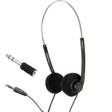 Lightweight Stereo Black Pad Myler Headphones for Schools Tour Companies Bulk