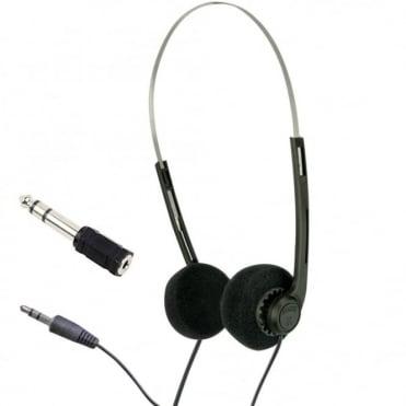 Lightweight Stereo Black Pad Myler Headphones for Schools Tour Companies Bulk