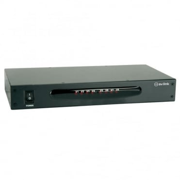 SB-3708M 8 Way Composite TV Video Distribution Amplifier RCA Phono Splitter
