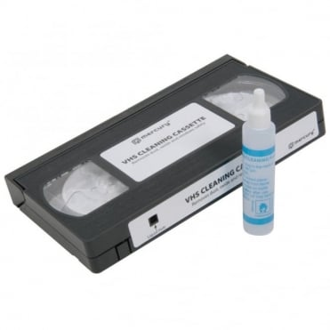 VHS Cleaning Kit for VCR Video Cassette Recorders inc Cleaning Fluid