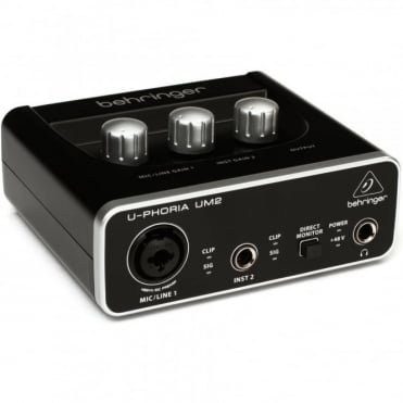 UM2 U-Phoria USB Audio Interface with switchable +48V phantom power