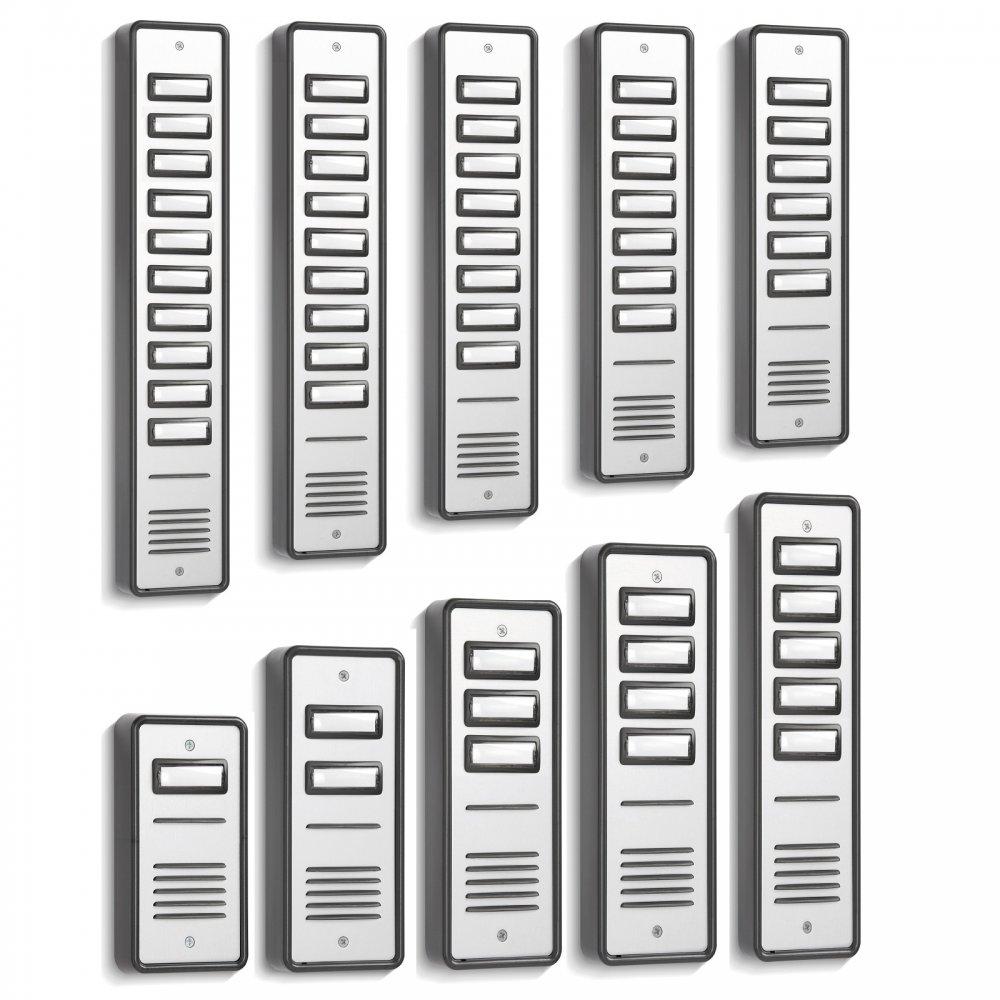 1 to 10 way door entry front panels for door entry systems for Door entry systems
