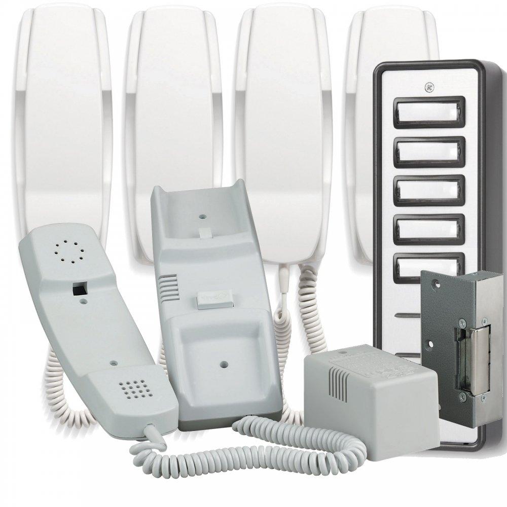900 Series 5 Way Audio Door Entry System Inc Lock Release