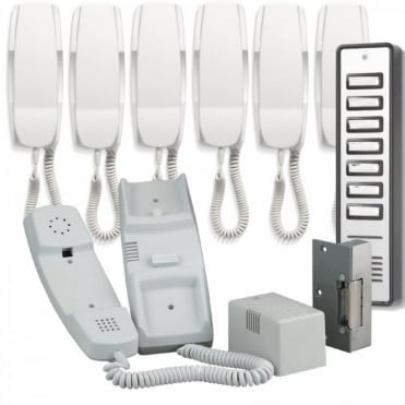 900 Series 7 Way Audio Door Entry System inc Lock Release