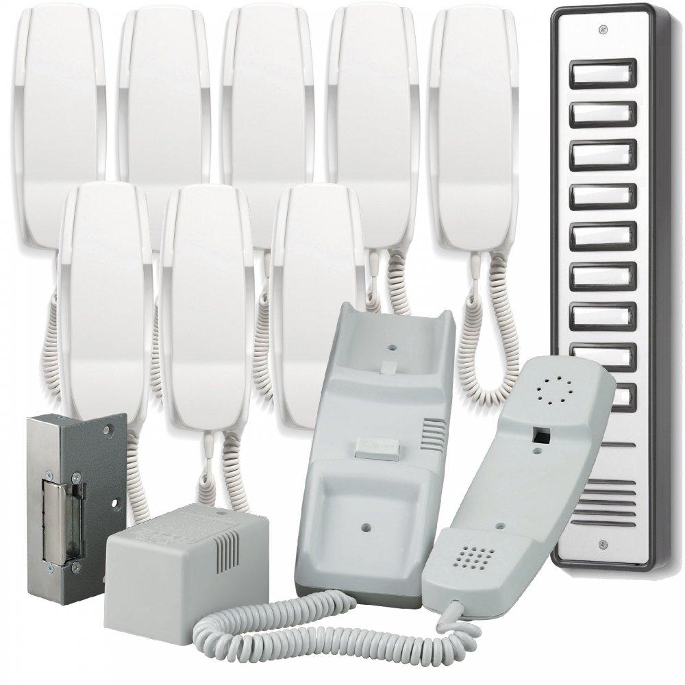 900 Series 9 Way Audio Door Entry System Inc Lock Release