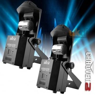 2 x DJ Intimidator Barrel 305 IRC DMX 60W LED Moving Mirror Roll Head Lighting Effect