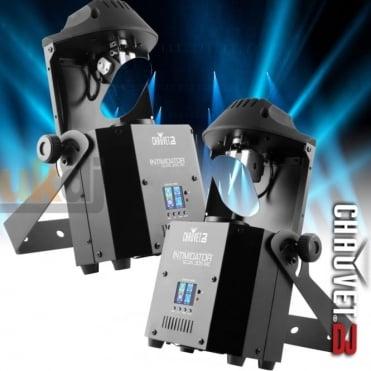2 x DJ Intimidator Scan 305 IRC DMX 60W LED Scanner 7 Gobo Lighting Effect