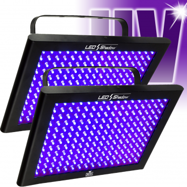2 x DJ LED Shadow DMX UV Ultraviolet Glow Blacklight Panel Wash TFX 192