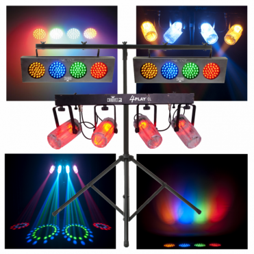 4PLAYCL 4 Play Clear & 2 x DJBANK DJ Bank Disco Lighting Effect Package Deal