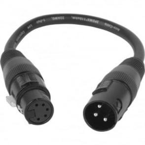 5-Pin Female to 3-Pin Male Adaptor DMX Converter