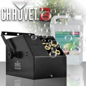 B250 High Output Bubble Machine Portable Kids Party DJ Disco Inc 5L Fluid