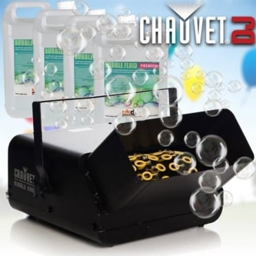 Bubble King B550 High Output Bubble Machine Professional Party DJ Disco Inc 20L Fluid