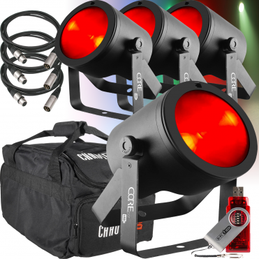 COREpar 80 Watt LED COB Par USB 80W RGB Parcan Spot Light D-Fi Kit