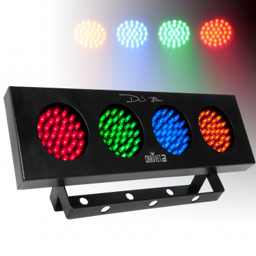 DJ Bank 4 Colour Bar DJ Chasing Disco Light Sound Activated