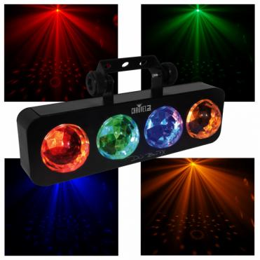 DJ Bank FX 4 Colour Bar Strip DJ Disco Party Light Sound Activated
