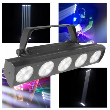 DJ BEAMbar 5x 6 Watt DMX LED Razor Sharp Beam Spot FX Light Bar