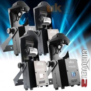 DJ Intimidator Scan 305 x 2 Barrel x 2 IRC DMX 60W LED Lighting Package