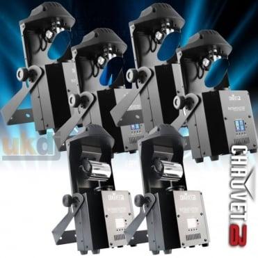 DJ Intimidator Scan 305 x 4 Barrel x 2 IRC DMX 60W LED Installation Pack